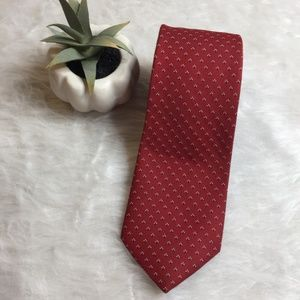 3/$20 Hardy Amies Tie Red Print